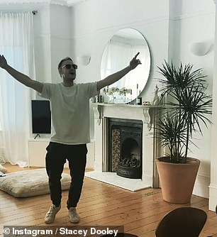 Posting a video of him dancing to Three Lions, she teased: 'How can the best dancer from Strictly, be the worst dancer in living rooms?)