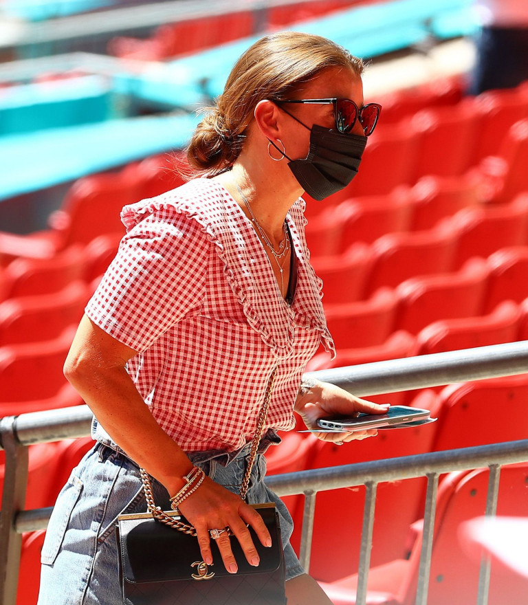 Coleen Rooney at England game at Wembley