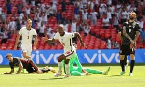 Sterling celebrates scoring