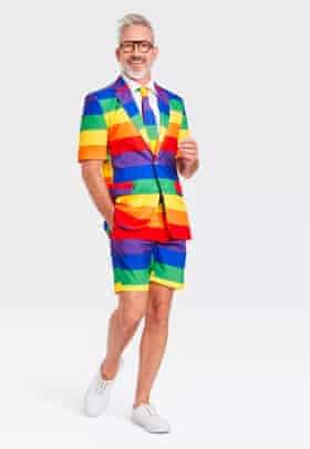 US retailer Target's Pride rainbow novelty suit and tie set.