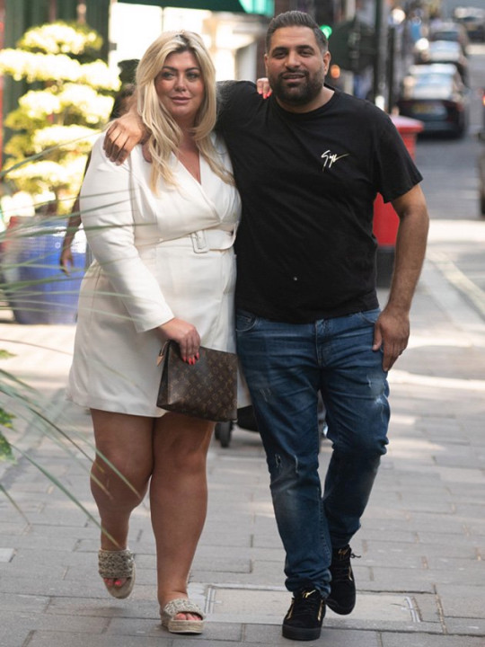 TOWIE star Gemma Collins was pictured arm in arm with a mystery man in Mayfair