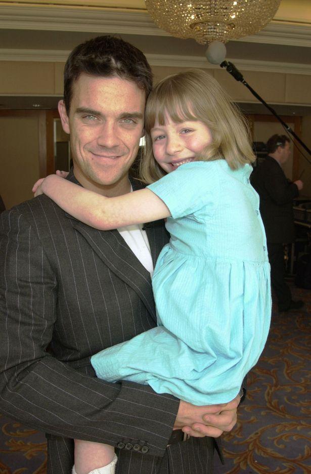 Robbie Williams with Rachel Edwards