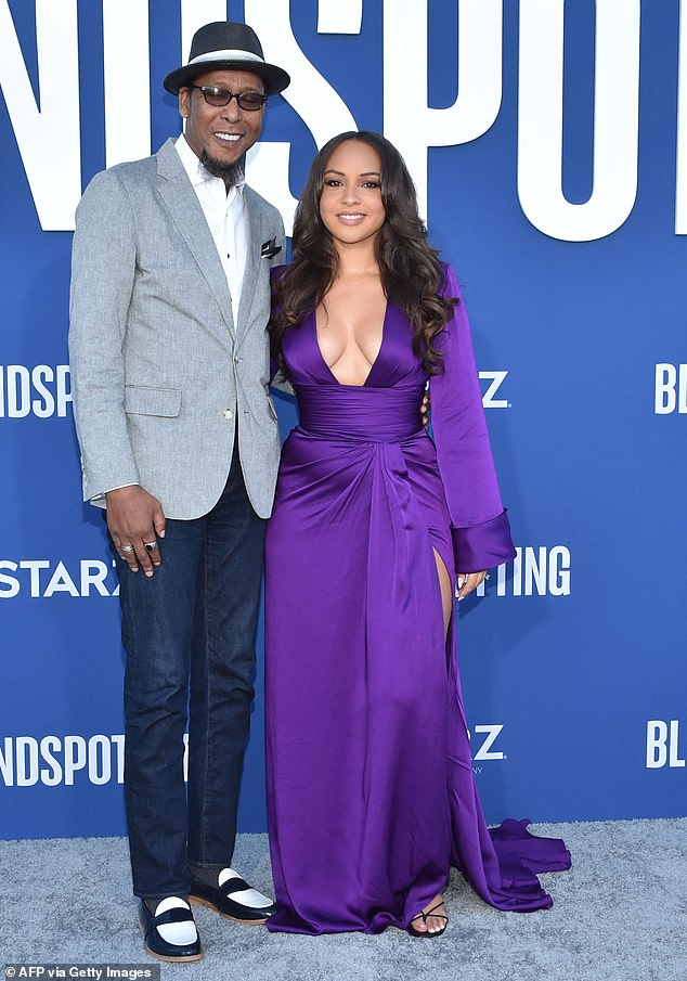 Family: Supporting Jasmine at the premiere was her father, actor Ron Cephas Jones. The two made history as the first father¿daughter pair to win Emmys in the same year in 2020