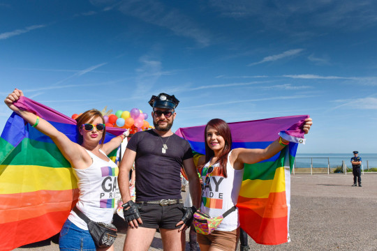 Margate, Kent, UK. 29th August, 2015. pride celebrations