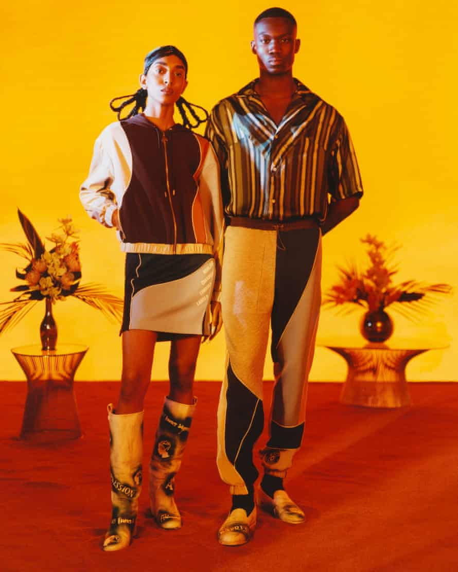 The accompanying spring-summer 2022 collection is Priya Ahluwalia's first joint men's and womenswear collection.