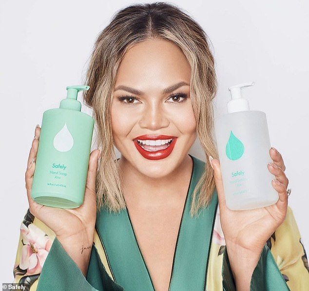 Chrissy Teigen founded Safely with Kris Jenner and previously appeared in its marketing materials