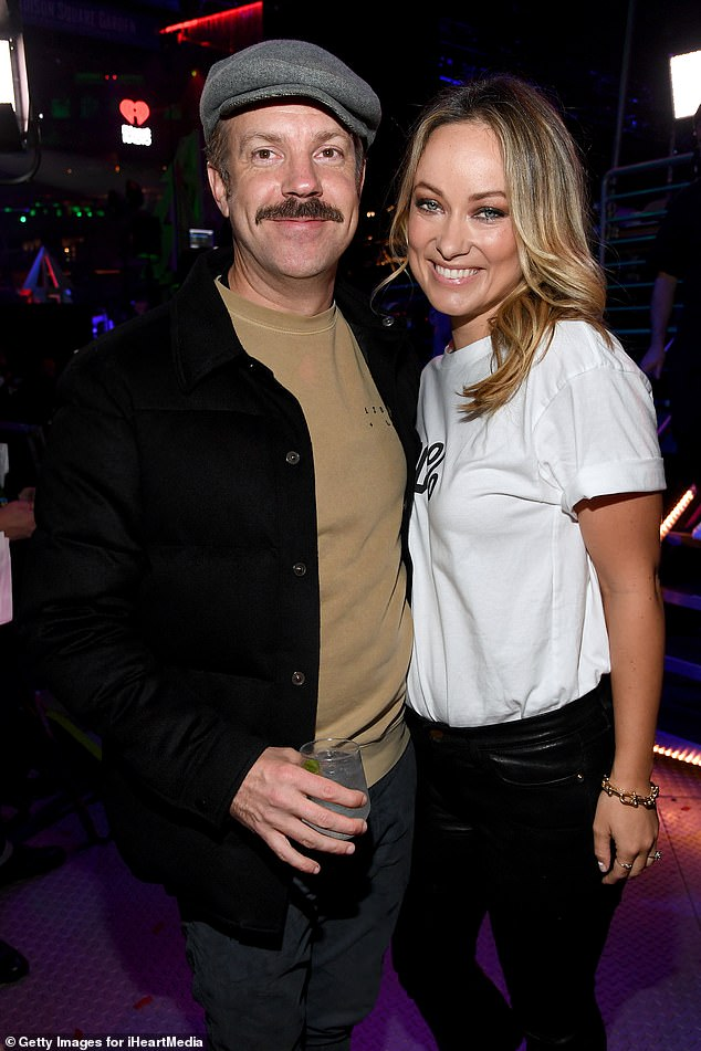 Matters of the heart:Harry's outing also comes as his girlfriend Olivia Wilde's ex Jason Sudeikis is said to still be 'heartbroken' over their new relationship (pictured in December 2019)