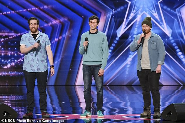 Powerful performance: T.3 from New York City blew the judges away with their powerful voices