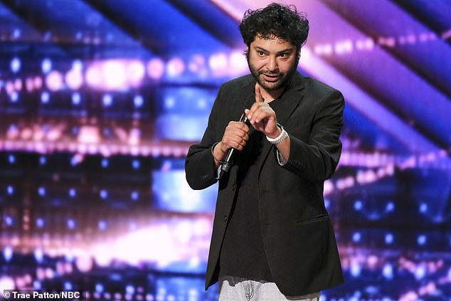 Funny guy:Kabir Singh from Fremont, California, performed a stand-up routine with jokes ranging from serial killers to being broke during the pandemic
