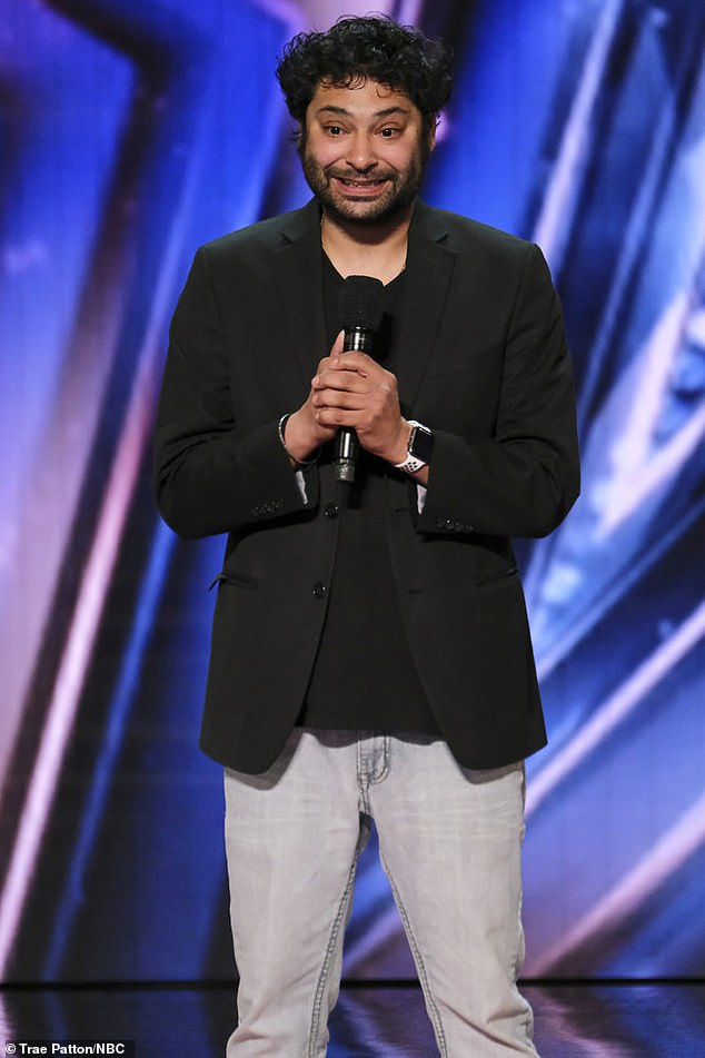 Getting emotional: The stand-up comediangot emotional and admitted times had been 'very rough' before receiving four yes votes