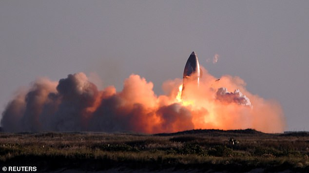 SpaceX's first super heavy-lift Starship SN8 rocket explodes during a return-landing attempt