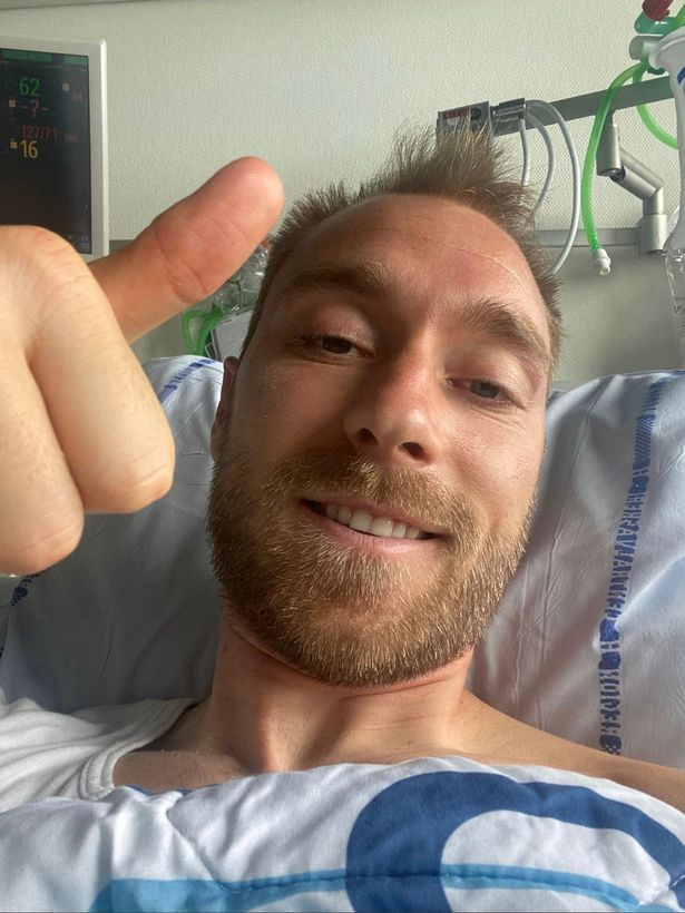 Eriksen is continuing to recover in hospital