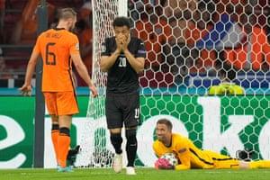 Netherlands' goalkeeper Maarten Stekelenburg catches his headed effort.