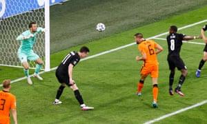 Vrij heads at goal.