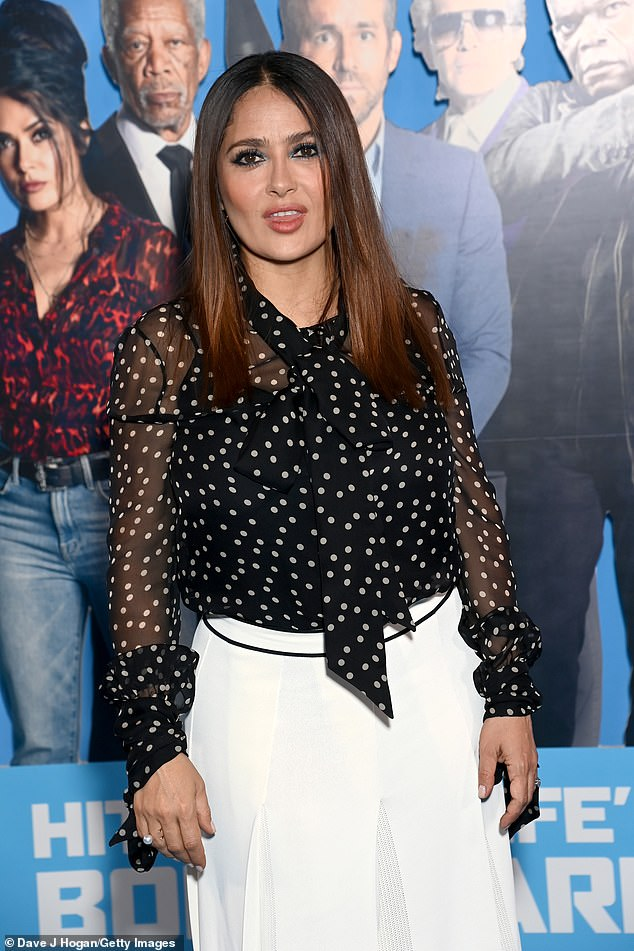 Stunning: Salma Hayek, snapped in London earlier this week, is among the inductees