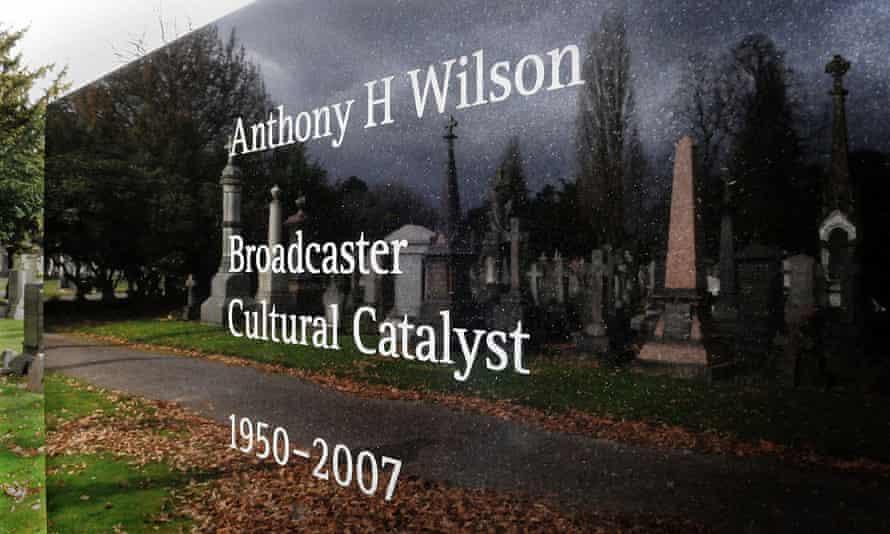 Tony Wilson's gravestone, designed by Peter Saville.