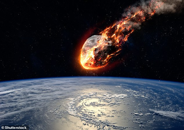 The Chicxulub impact is widely believed to have caused the mass extinction event which made non-avian dinosaurs extinct (concept image)
