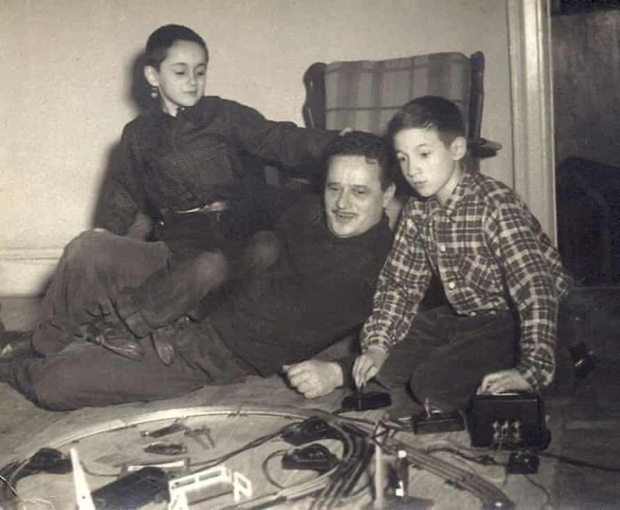 Robert, left, and Michael, with their adoptive father Abel Meeropol, a songwriter whose biggest hit was the civil rights anthem Strange Fruit.