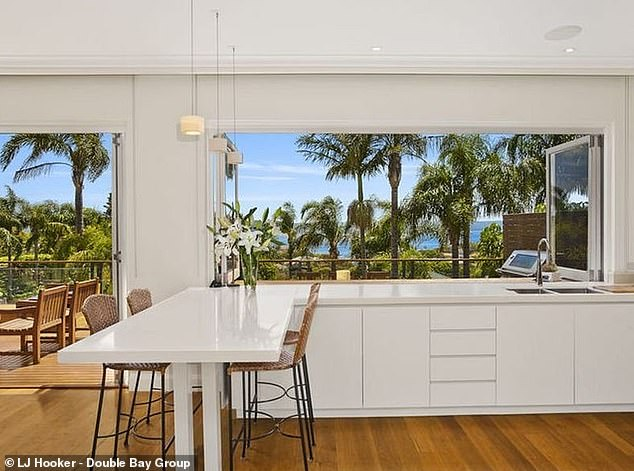 Stay: He was put up in a $6million Mediterranean-inspired residence with northern views of Sydney Harbour