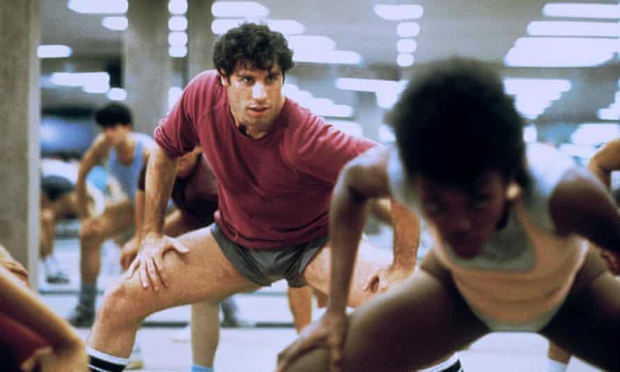 Work that body: John Travolta in Perfect in 1985.