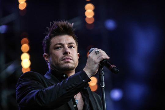 Duncan James performing at BBC Proms In The Park 2013.