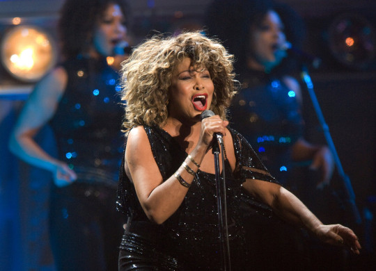 Tina Turner performs on stage at the Gelredome on March 21st, 2009 in Arnhem, Netherlands