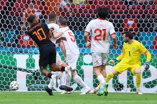 Memphis Depay scored the Netherlands' opener against North Macedonia
