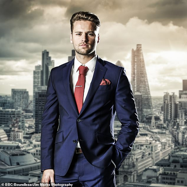 On TV:The new dad, 34, appeared on The Apprentice in 2014 (pictured) and was also crowned the winner of Celebrity Big Brother in 2015