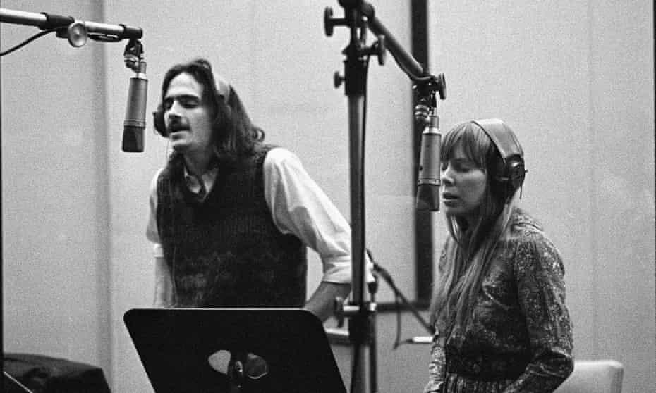 James Taylor with Joni around 1970.
