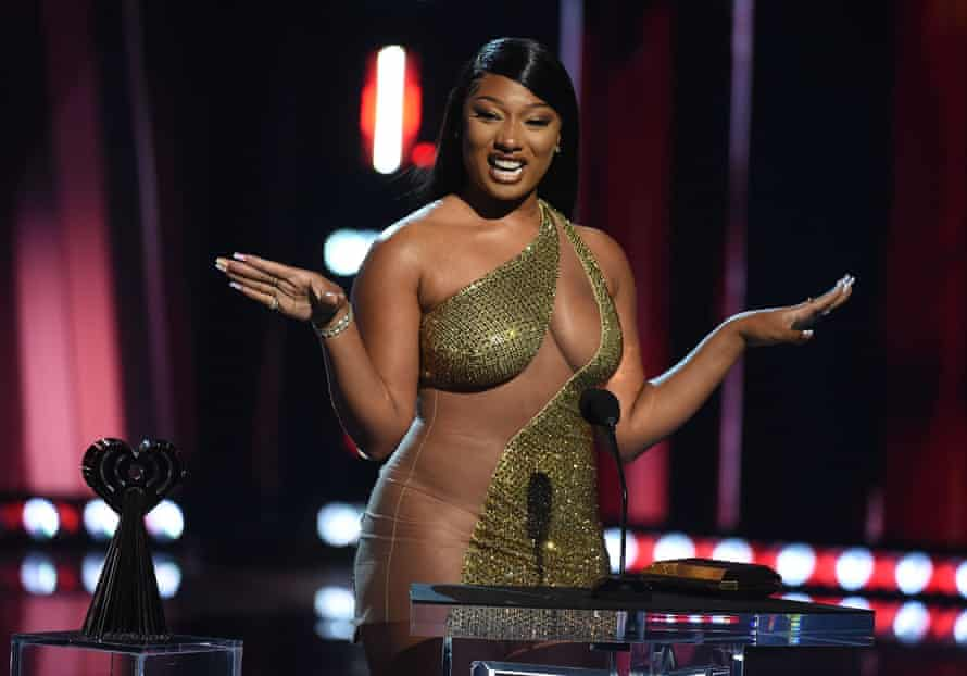 Megan Thee Stallion at the iHeartRadio music awards in Los Angeles in May.