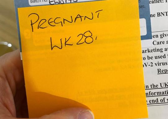 Jen Sizeland vaccination card