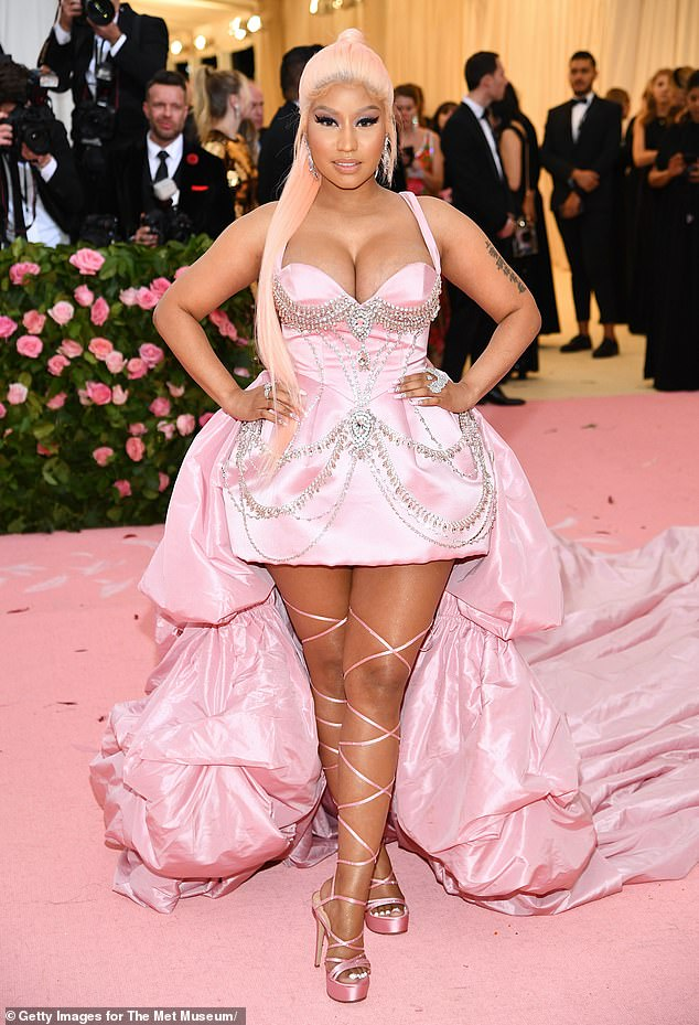 Standing out: Earlier in the day, Nick Minaj became one of the highest-profile people criticizing him when she reposted the history of J'Ouvert and asked him to change the name; seen in 2019 in NYC