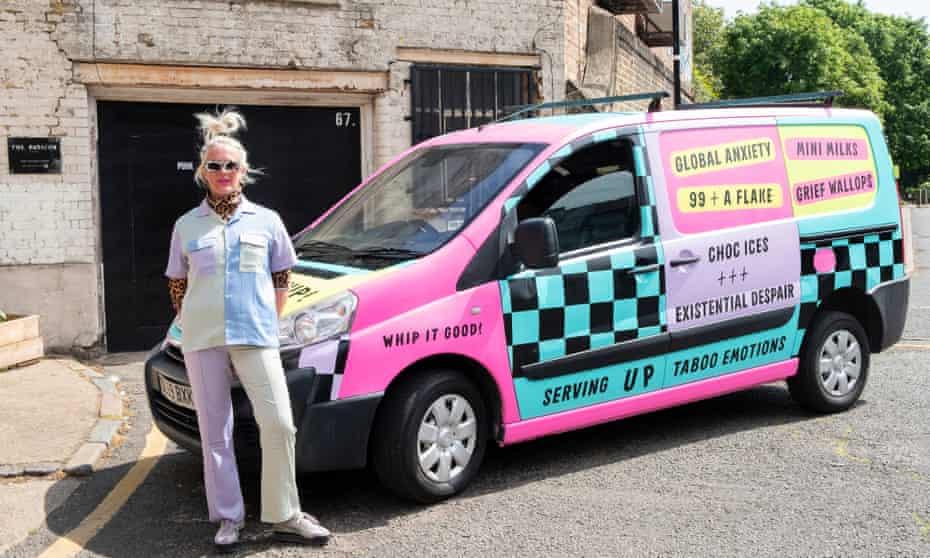 The Fandangoe Whip ice-cream van created by artist Annie Nicholson, aka the Fandangoe Kid