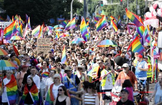 Pride parade in Warsaw