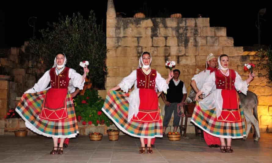 Maltese folklore show at the Limestone Heritage Park and Gardens, Siggiewi, Malta.