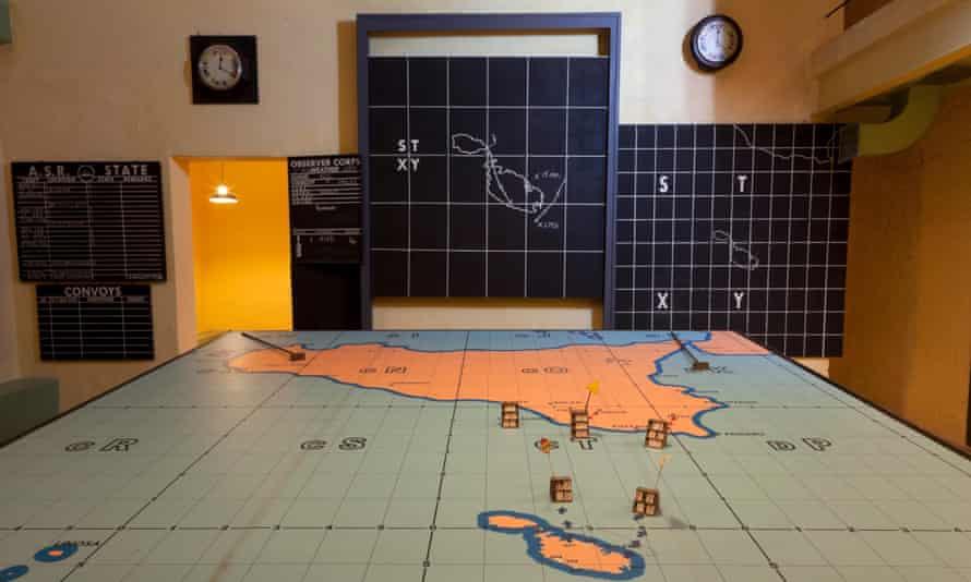 Operation Husky situation map at the Lascaris War Rooms, Malta.