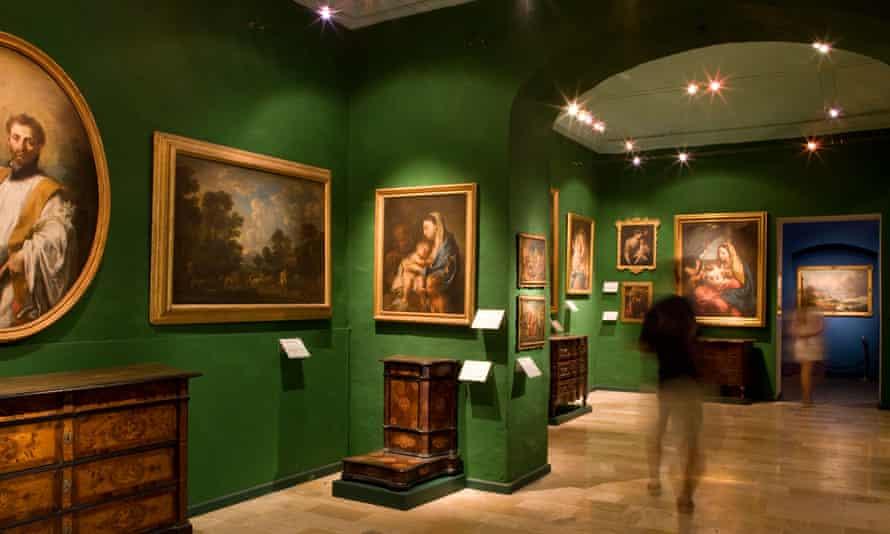 Interior of a gallery at the National Community Art Museum (Muza), Valletta, Malta.