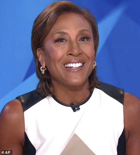 So many stars:Robin Roberts, who is scheduled to be one of the rotating guest hosts of Jeopardy! next month, featured in the tributes to Alex