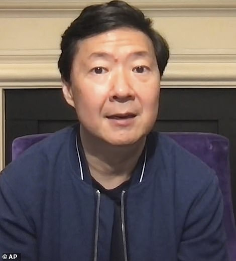 What an array: Community actor Ken Jeong paid his respects to Alex as well