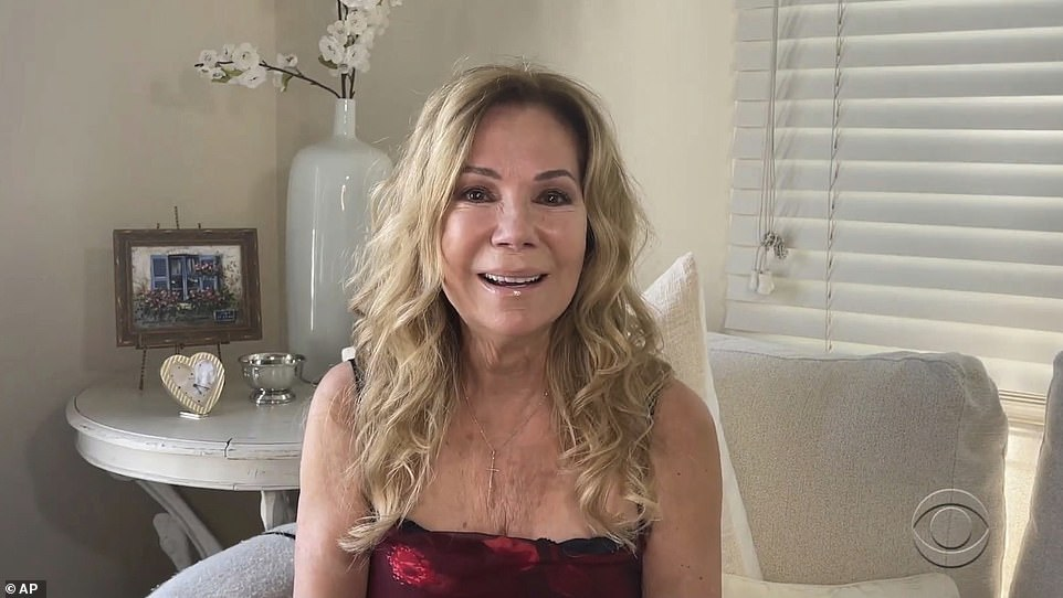 Old friend:Kathie Lee Gifford, who starred with him on the daytime show LIVE With Regis And Kathie Lee, made a virtual appearance at the event to praise him