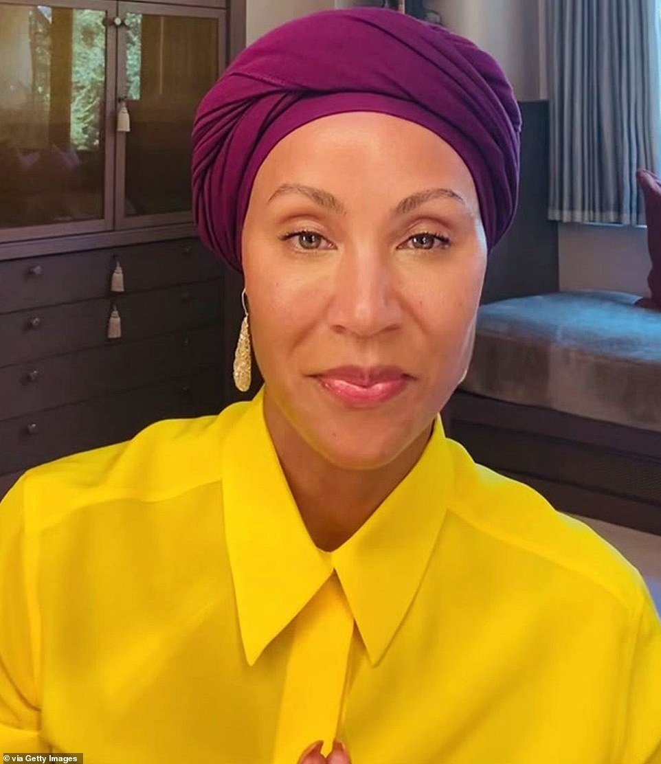 Star-studded: The talk-show categories were a star-studded affair with Jada Pinkett Smith accepting an award for Red Table Talk which she hosts with her daughter Willow Smith and mother Adrienne Banfield-Norris; Jada pictured