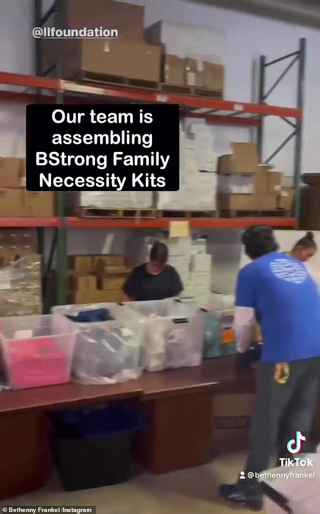 On it! Crews at the BStrong warehouse are sending out much-needed supplies