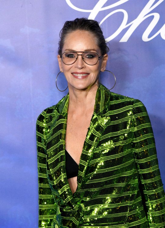 Actress Sharon Stone at the 2020 Hollywood For The Global Ocean Gala Honoring HSH Prince Albert II Of Monaco