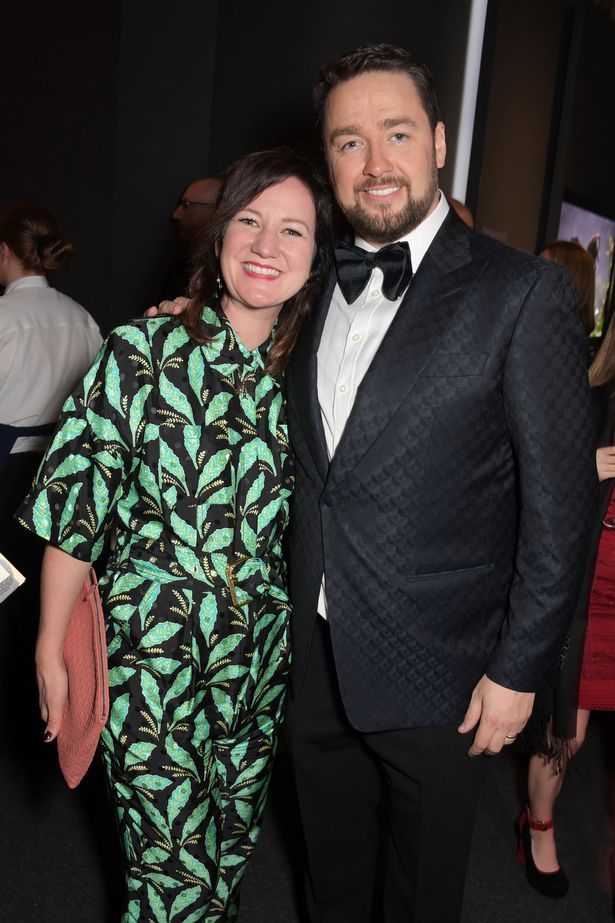 Lucy Dyke and Jason Manford attend The Olivier Awards 2019