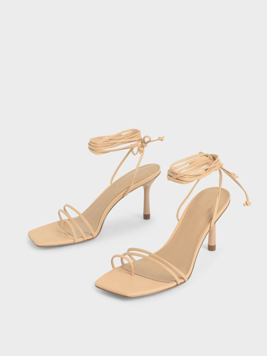 Charles & Keith Beige strappy sandals