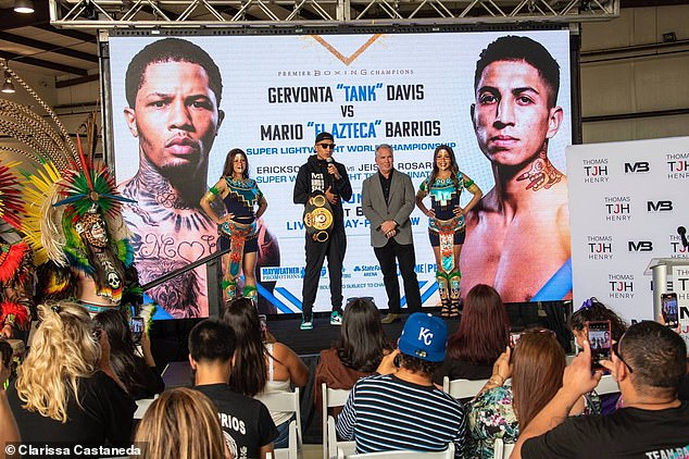 Barrios - who was knocked out in the 11th round - reportedly made $1.5million from the flight. Meanwhile, Mayweather's victorious Davis reportedly raked in $5million for the night