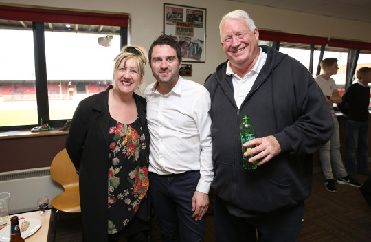 Linda Gilbey, George Gilbey and Pete McGarry.
