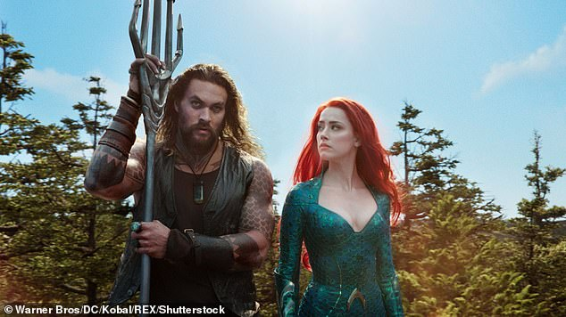 Filming in the UK? It was reported in mid-March by Discussing Film that the Aquaman sequel, Aquaman and the Lost Kingdom, was eyeing a June production start in the U.K., although that hasn't been confirmed. Amber is pictured with Jason Momoa in the 2018 Aquaman film