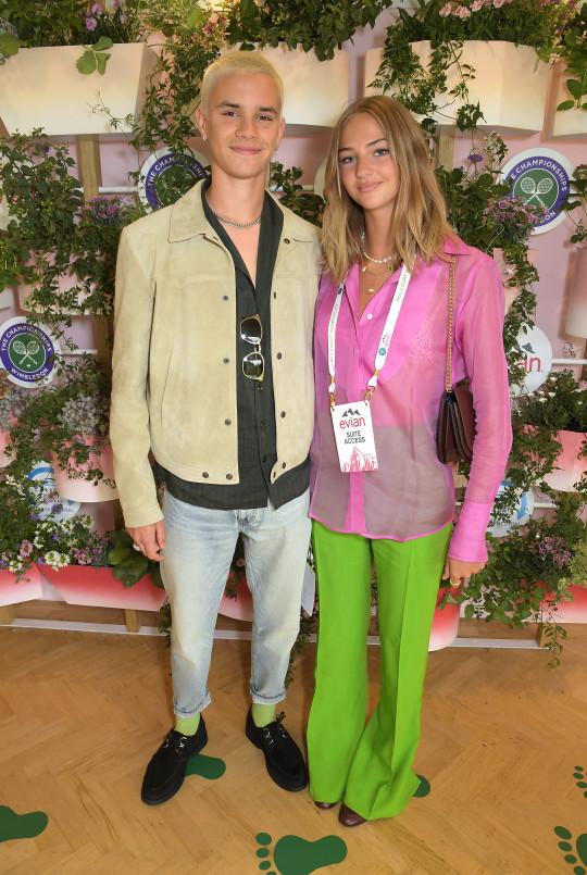 Romeo Beckham and Mia Regan