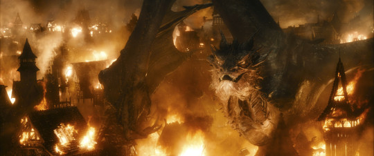 Dragon Smaug as portrayed by Benedict Cumberbatch in The Hobbit: The Battle of the Five Armies